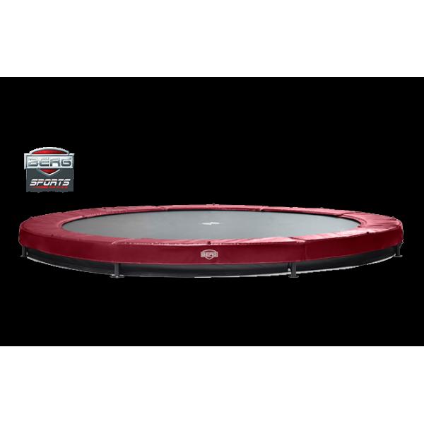 Trampolina BERG Elite + InGround 330 - 430 RED, GREEN