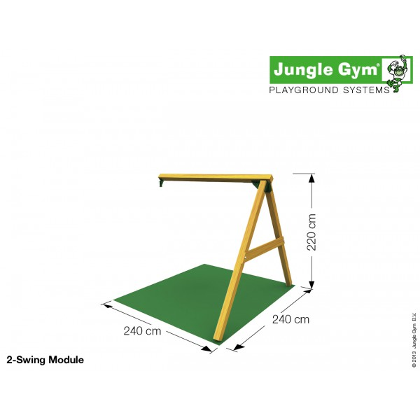 Moduł Swing Jungle Gym bez siedzisk