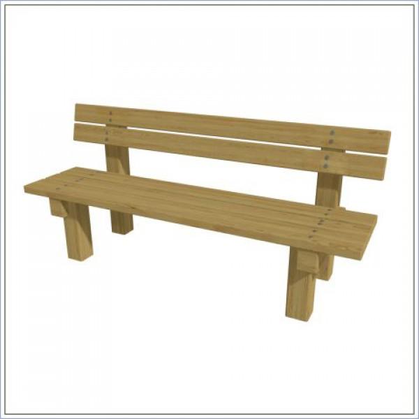 Ławka z oparciem drewniana PROSYMPATYK