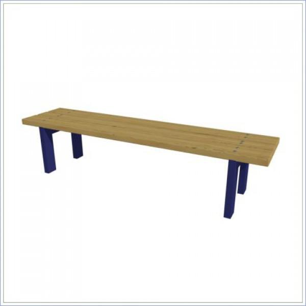 Ławka bez oparcia drewniano -metalowa  PROSYMPATYK