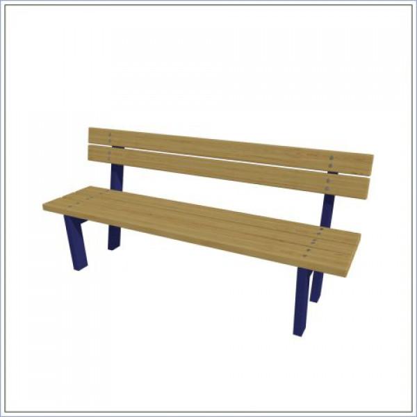 Ławka z oparciem drewniano-metalowa  PROSYMPATYK