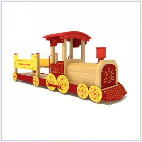 Drewniana lokomotywa z wagonem PROSYMPATYK