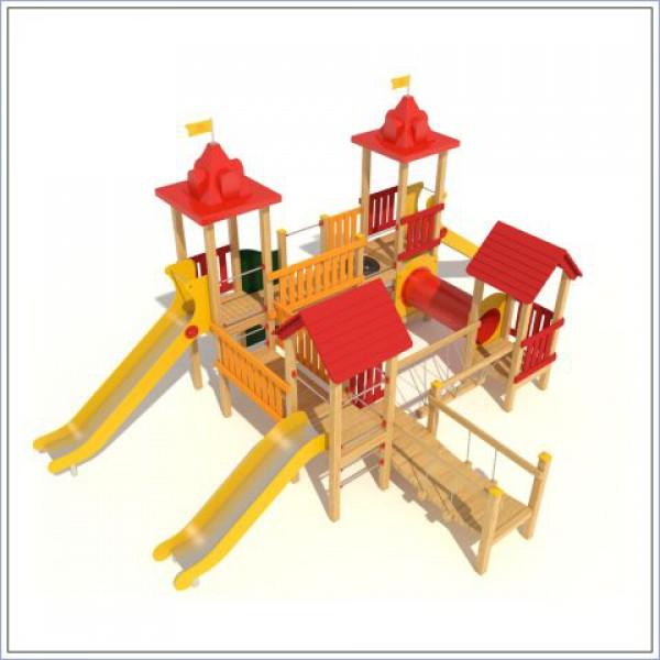 Plac zabaw z dwiema zjeżdżalniami Twierdza Puls PROSYMPATYK