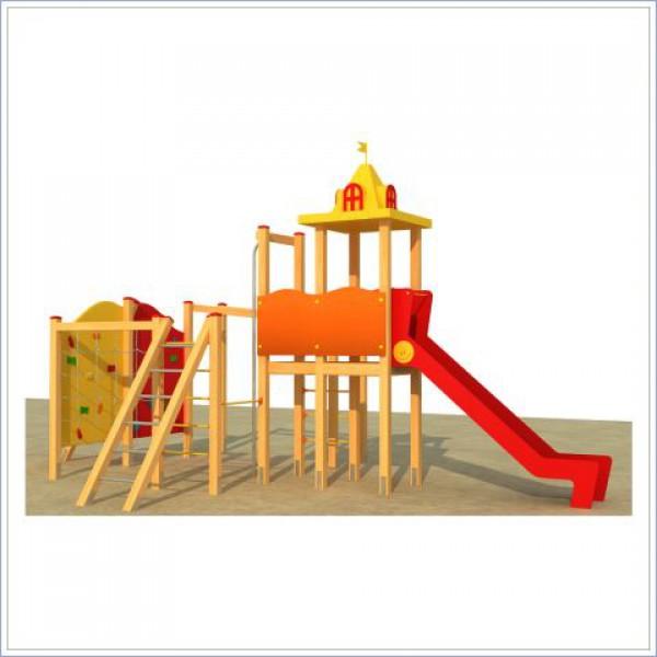 Plac zabaw z dwiem zjeżdżalniami Małpi Gaj PROSYMPATYK
