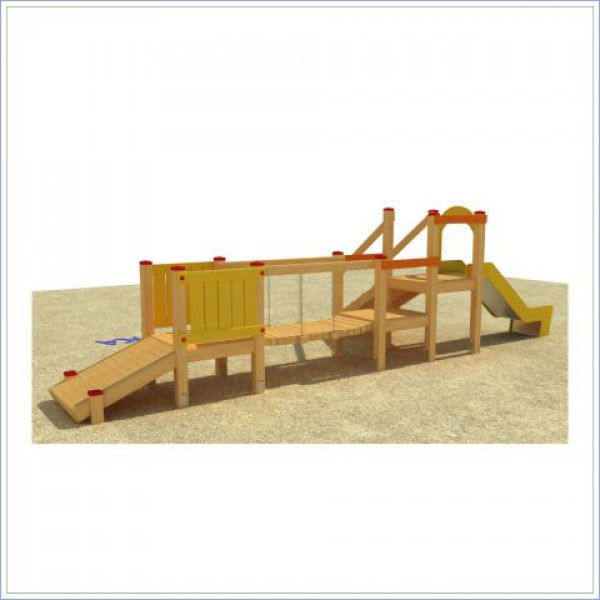 Plac zabaw ze zjeżdżalnią i mostkiem Małpka  PROSYMPATYK