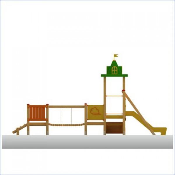 Plac zabaw ze zjeżdżalnią Smerf PROSYMPATYK