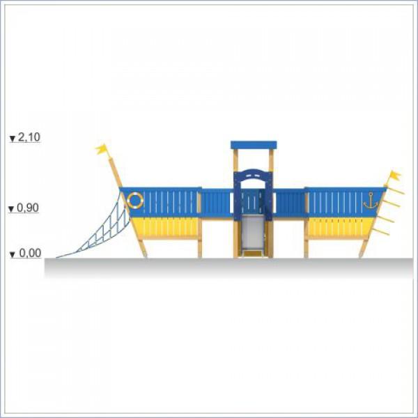 Plac zabaw ze zjeżdżalnią Statek PROSYMPATYK