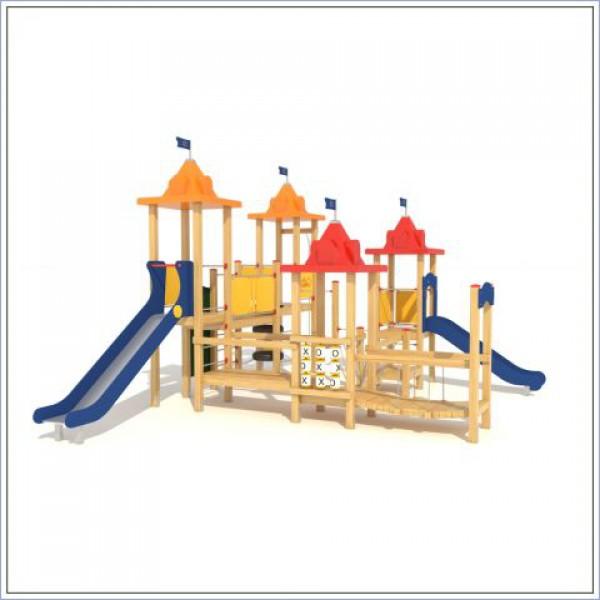 Plac zabaw Twierdza z dwiema zjeżdżalniami PROSYMPATYK