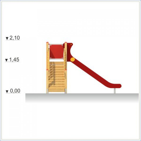 Zjeżdżalnia Adaś z trapem o długości ślizgu 300 cm PROSYMPATYK