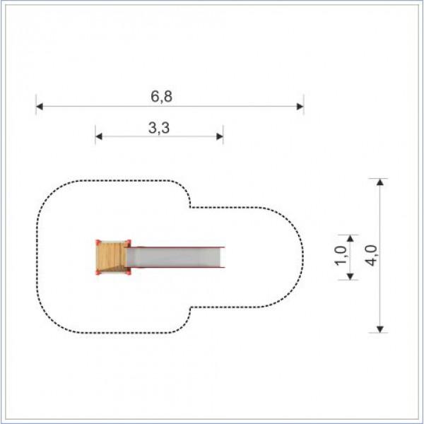 Zjeżdżalnia Adaś o długości ślizgu 300 cm PROSYMPATYK