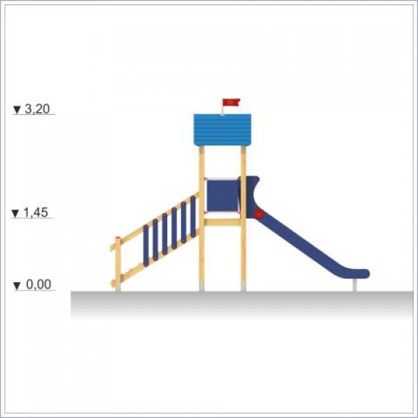 Zjeżdżalnia Adaś z dachem i tarpą o długości ślizgu 300 cm PROSYMPATYK
