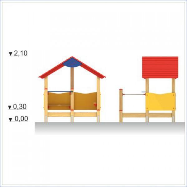 Domek z ławeczkami Prosymaptyk