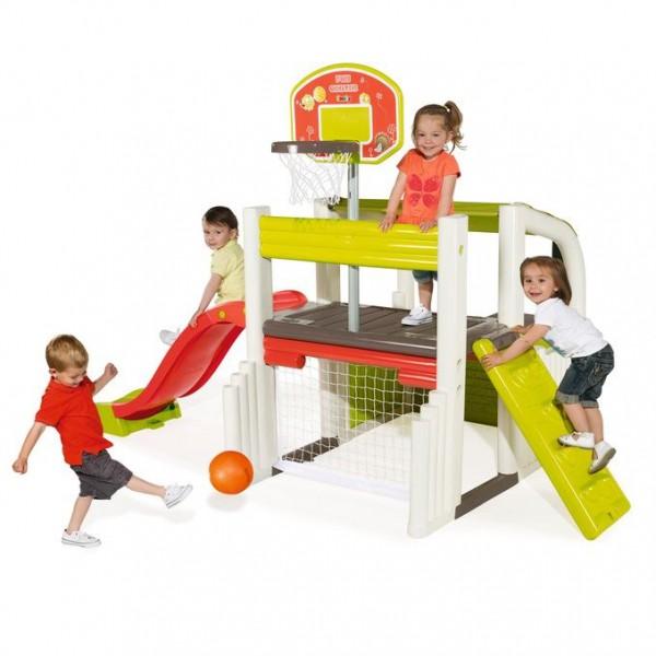 Wielofunkcyjny plac zabaw Mały korzykarz Smoby