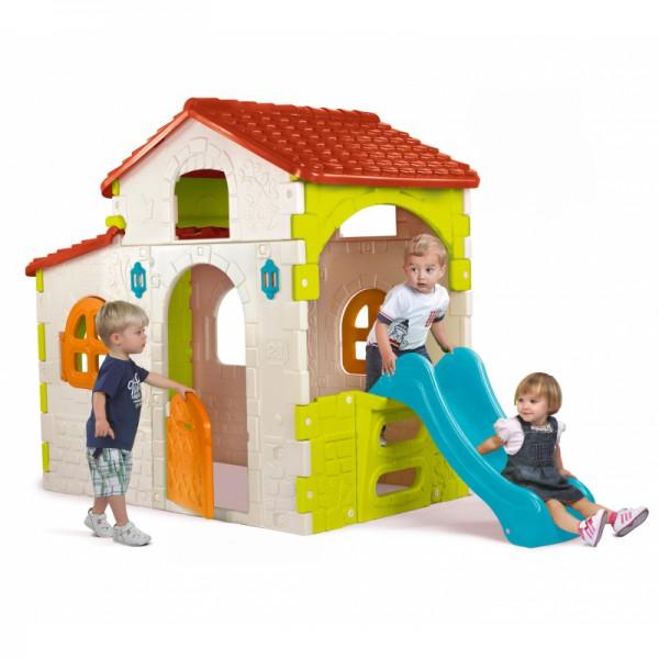 Domek dla dzieci ze Zjeżdżalnią Feber